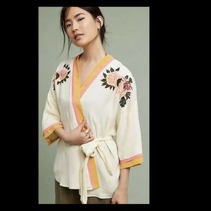 Anthropology Seen Worn Kept Paula Embroider Kimono